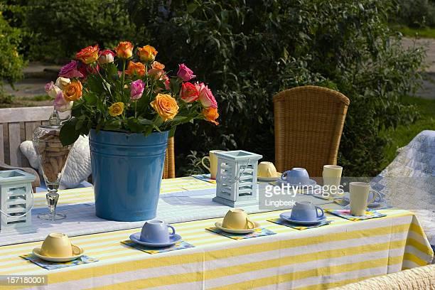 Jardin tasse de thé