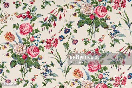 Garden Delight Medium Antique Floral Fabric