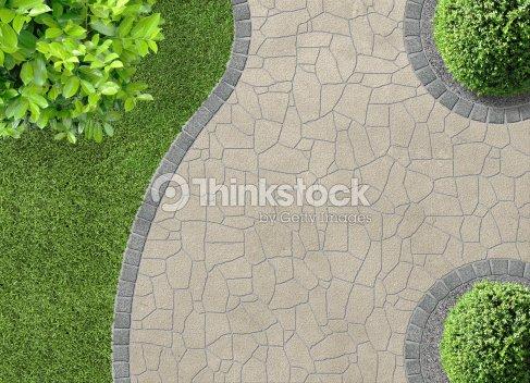 De vue a rienne du jardin photo thinkstock - Gartenwege gestaltungsideen ...