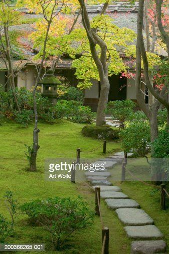 Garden detail, Kyoto, Honshu, Japan : Stock Photo