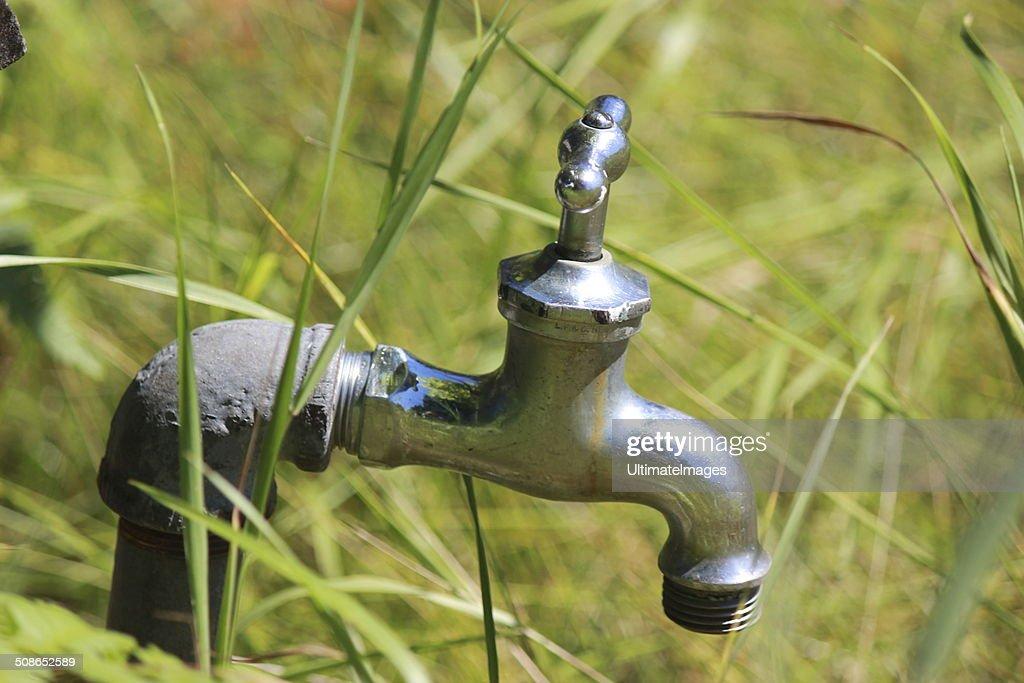 Garden Faucet Close Up : Stock Photo