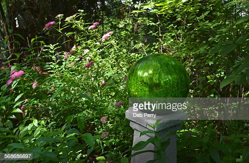 Garden gazing ball