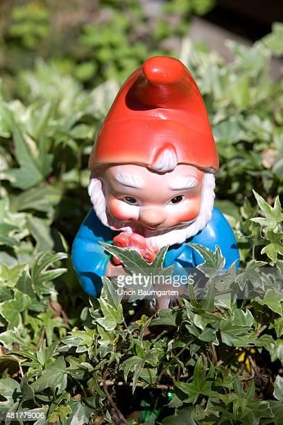 Garden gnome in a front garden