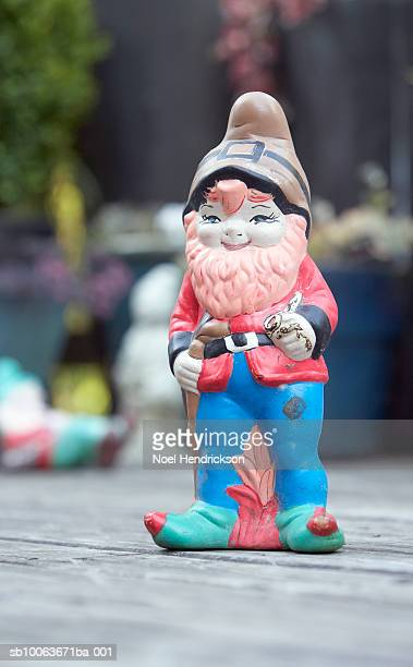 Garden gnome on porch
