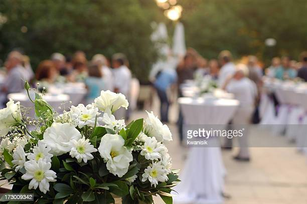 garden party and flower decoration