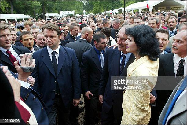 Garden Party At Elysees Palace After Military Parade Of French National Day On July 14Th 2002 In Paris France French President Of Jacques Chirac