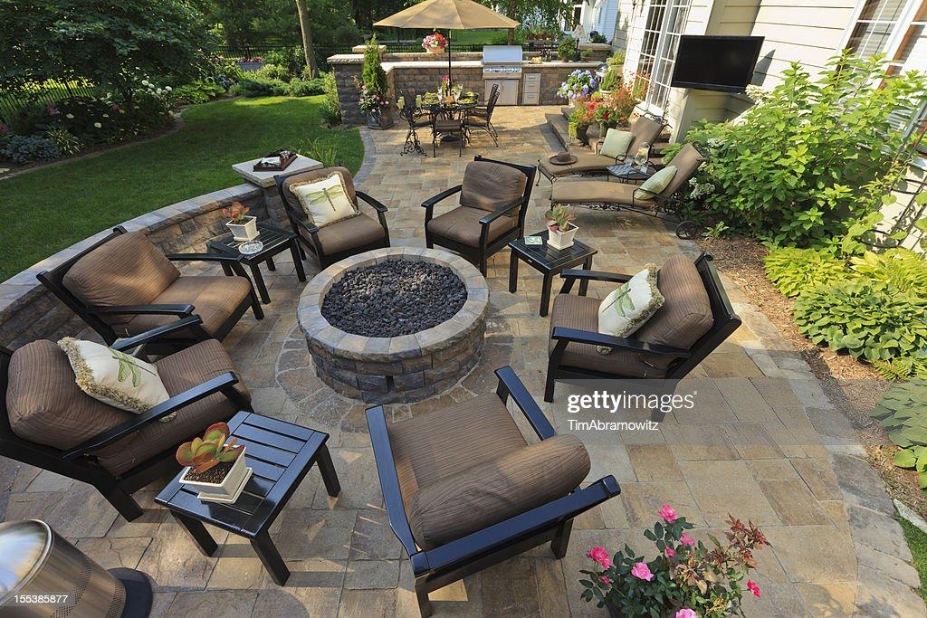 Garden Patio : Stockfoto