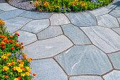 Beautiful slates and flower beds