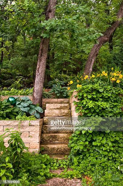 庭園の階段