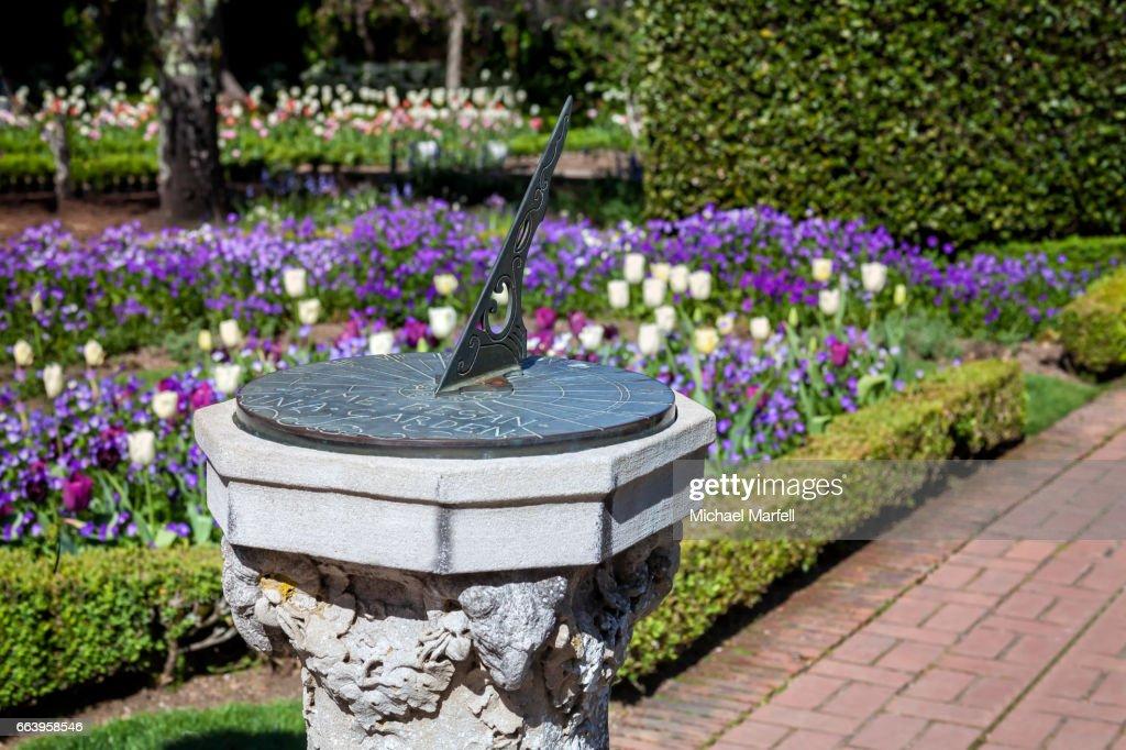 Garden Sundial : Stock Photo
