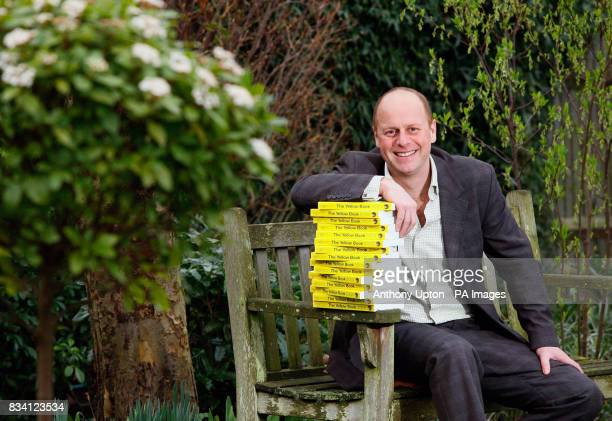 TV gardener Joe Swift launches The National Gardens Schemes 2008 Yellow Book garden directory at one of the NGSS open gardens in Herne Hill south...