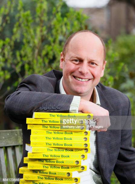 TV gardener Joe Swift launches The National Gardens Scheme's 2008 Yellow Book garden directory at one of the NGS'S open gardens in Herne Hill south...