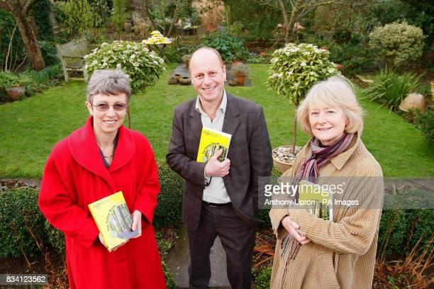TV gardener Joe Swift with Julia Grant CEO of The National Gardens Scheme Left and garden owner Rosemary Lindsay launches The National Gardens...
