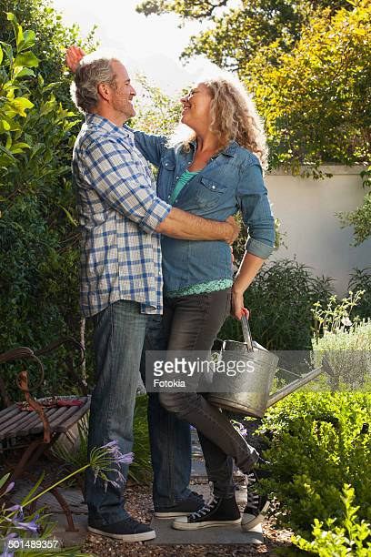 Gardening Couple having Fun