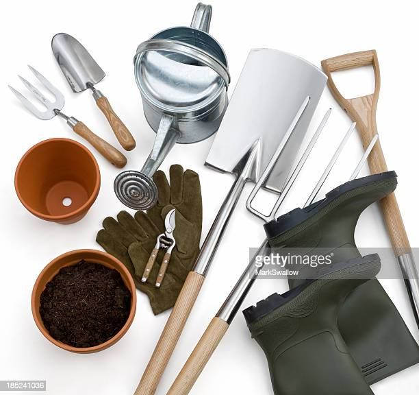 Gardening tools stock photos and pictures getty images for Tools and equipment in planting