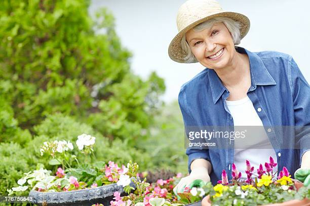 Gardening is her passion