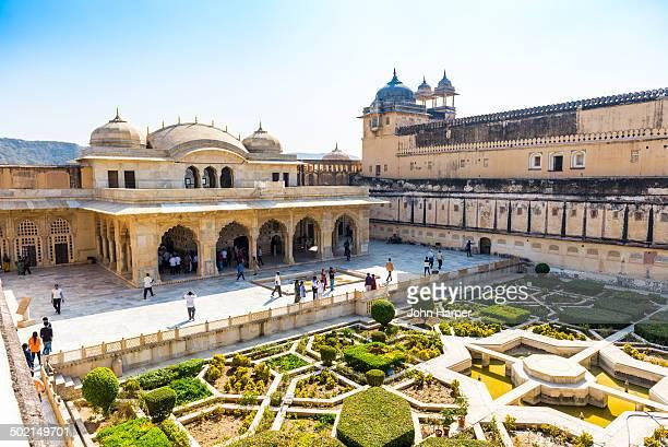 Gardens, Amber Fort, Jaipur, Rajasthan, India
