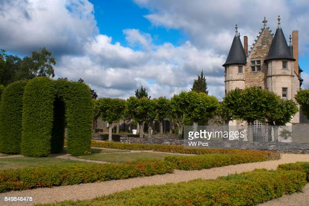 Gardens of the Castle of Angers in the city of Angers in the Maine et Loire Valley region of France