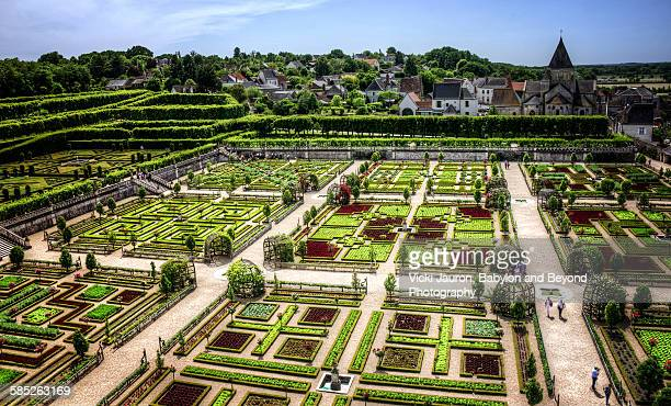Gardens of the Chateau Villandry from on High