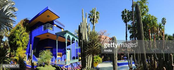 villa majorelle photos et images de collection getty images. Black Bedroom Furniture Sets. Home Design Ideas