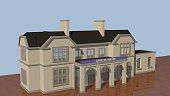 Représentation 3D de la gare de Wavre (Belgique). Elle a survécu aux bombardements de la guerre 1914-1918 ou elle a servi de dépôt des engins militaires allemands de la première guerre. Modéle de la g