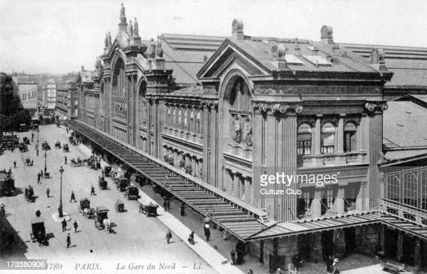 Gare du Nord Paris c 1900 Train station
