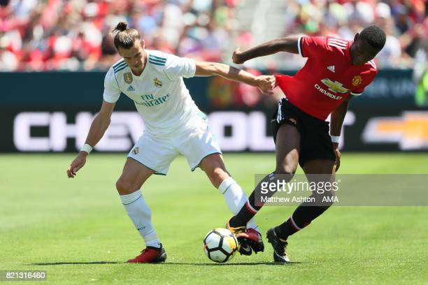 Gareth Bale of Real Madrid and Timothy FosuMensah of Manchester United during the International Champions Cup 2017 match between Real Madrid v...