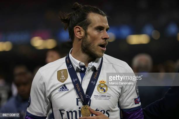 Gareth Bale of Real Madrid CF after the UEFA Champions League final match between Juventus FC and Real Madrid CF Real Madrid beat Juventus 41 to win...
