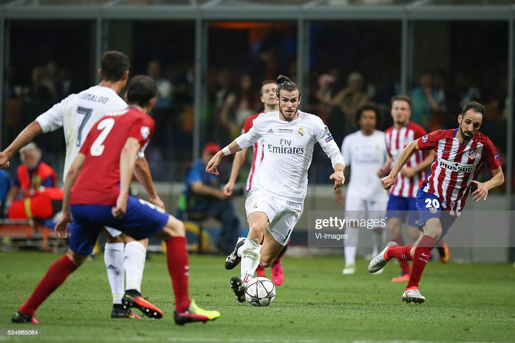 Gareth Bale of Real Madrid during the UEFA Champions League final match between Real Madrid and Atletico Madrid on May 28, 2016 at the Giuseppe Meazza San Siro stadium in Milan, Italy.