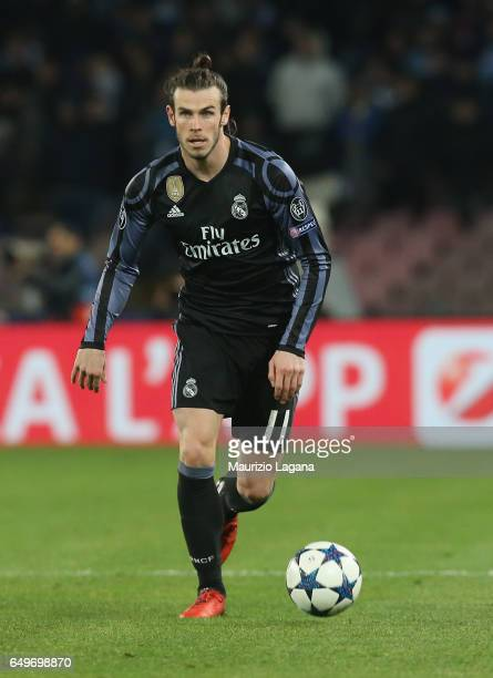 Gareth Bale of Real Madrid during the UEFA Champions League Round of 16 second leg match between SSC Napoli and Real Madrid CF at Stadio San Paolo on...
