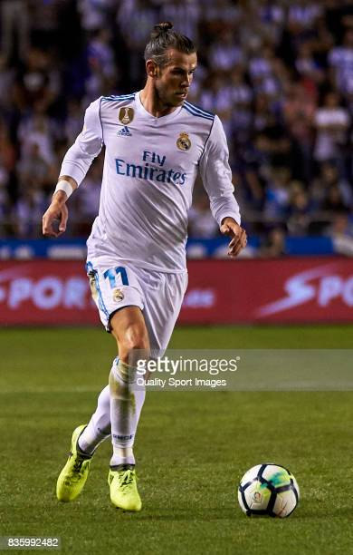 Gareth Bale of Real Madrid in action during the La Liga match between Deportivo La Coruna and Real Madrid at Riazor Stadium on August 20 2017 in La...