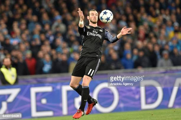 Gareth Bale of Real Madrid in action during the UEFA Champions League Round of 16 second leg match between SSC Napoli and Real Madrid CF at Stadio...