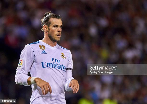 Gareth Bale of Real Madrid looks on during the La Liga match between Deportivo La Coruna and Real Madrid at Riazor Stadium on August 20 2017 in La...