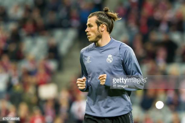Gareth Bale of Real Madrid looks on during the UEFA Champions League Quarter Final first leg match between FC Bayern Muenchen and Real Madrid CF at...