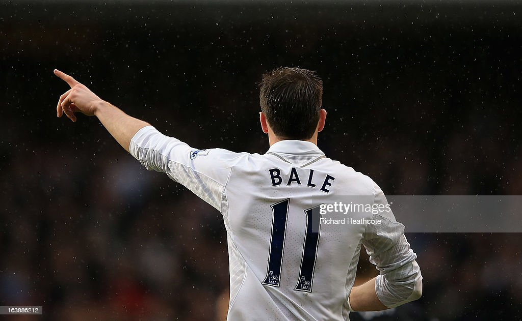 <a gi-track='captionPersonalityLinkClicked' href=/galleries/search?phrase=Gareth+Bale&family=editorial&specificpeople=609290 ng-click='$event.stopPropagation()'>Gareth Bale</a> of Tottenham in action during the Barclay's Premier League match between Tottenham Hotspur and Fulham at White Hart Lane on March 17, 2013 in London, England.