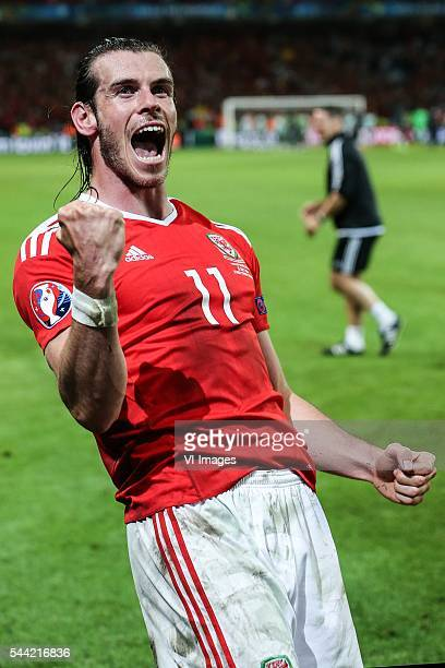 Gareth Bale of Wales during the UEFA EURO 2016 quarter final match between Wales and Belgium on July 2 2016 at the Stade Pierre Mauroy in Lille France
