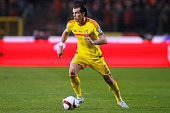 Gareth Bale of Wales in action during the Group B UEFA European Championship 2016 Qualifier match bewteen Belgium and Wales at King Baudouin Stadium...