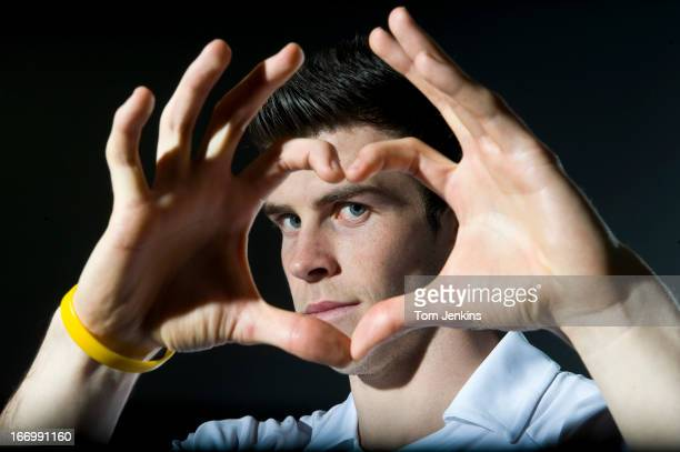 Gareth Bale the Tottenham Hotspur footballer poses for a portrait in a hotel in Clerkenwell on March 12th 2012 in London