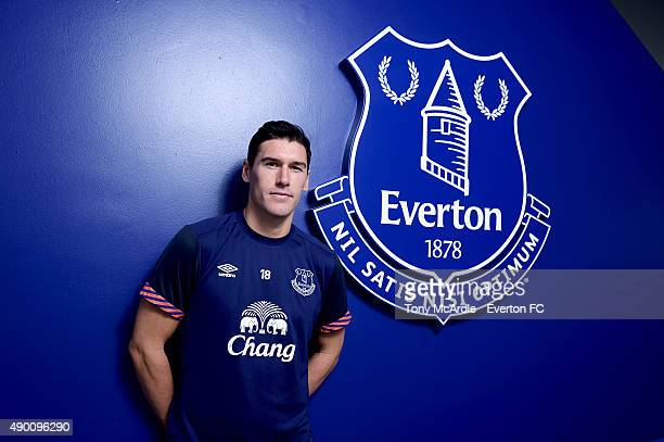 Gareth Barry at Finch Farm the training ground of Everton Football Club on September 26 2015 in Halewood England