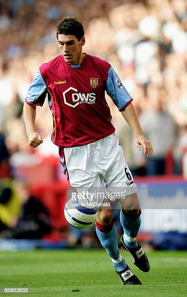 Gareth Barry of Aston Villa in action during the Barclays Premiership match between Aston Villa and Tottenham Hotspurs at Villa Park on September 17...