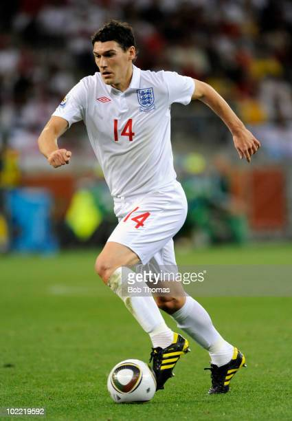 Gareth Barry of England during the 2010 FIFA World Cup South Africa Group C match between England and Algeria at Green Point Stadium on June 18 2010...