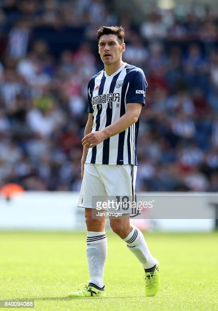 Gareth Barry of West Bromwich Albion during the Premier League match between West Bromwich Albion and Stoke City at The Hawthorns on August 27 2017...