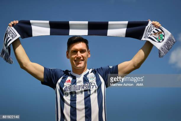 Gareth Barry signs for West Bromwich Albion on August 15 2017 in West Bromwich England