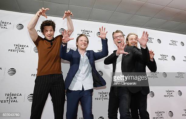 Gareth Coulaman Evans Damien Molony Brian Gleesons and Simon Dixon attend 'Tiger Raid' Premiere during 2016 Tribeca Film Festival at Chelsea Bow Tie...