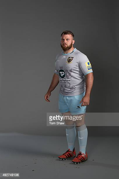 Gareth Denman of Northampton poses for a picture during the Northampton Saints Photocall for BT on September 16 2015 in Northampton England