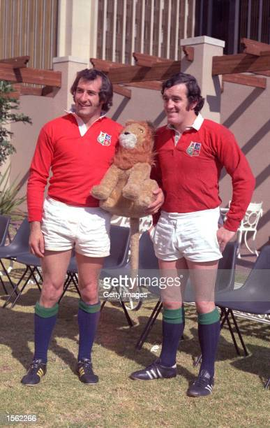 Gareth Edwards and Phil Bennett pictured during the British Lions tour to South Africa Mandatory Credit Allsport UK /Allsport