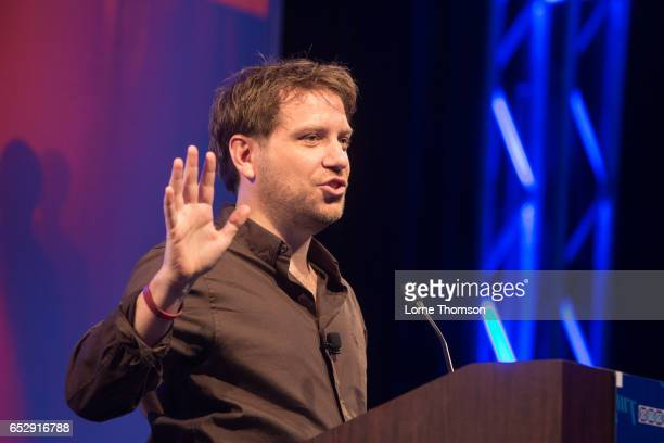 Gareth Edwards delivers his Keynote speech at Austin Convention Center on March 13 2017 in Austin Texas