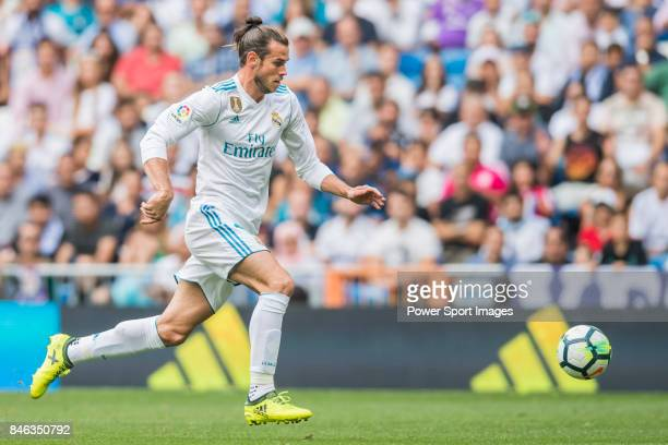 Gareth Frank Bale of Real Madrid in action during the La Liga match between Real Madrid and Levante UD at the Estadio Santiago Bernabeu on 09...