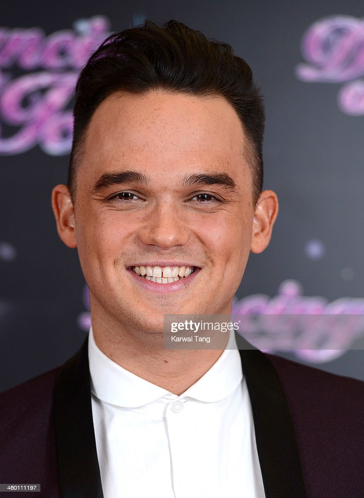 <a gi-track='captionPersonalityLinkClicked' href=/galleries/search?phrase=Gareth+Gates&family=editorial&specificpeople=206173 ng-click='$event.stopPropagation()'>Gareth Gates</a> attends the series launch photocall for 'Dancing on Ice' held at the London Studios on January 2, 2014 in London, England.