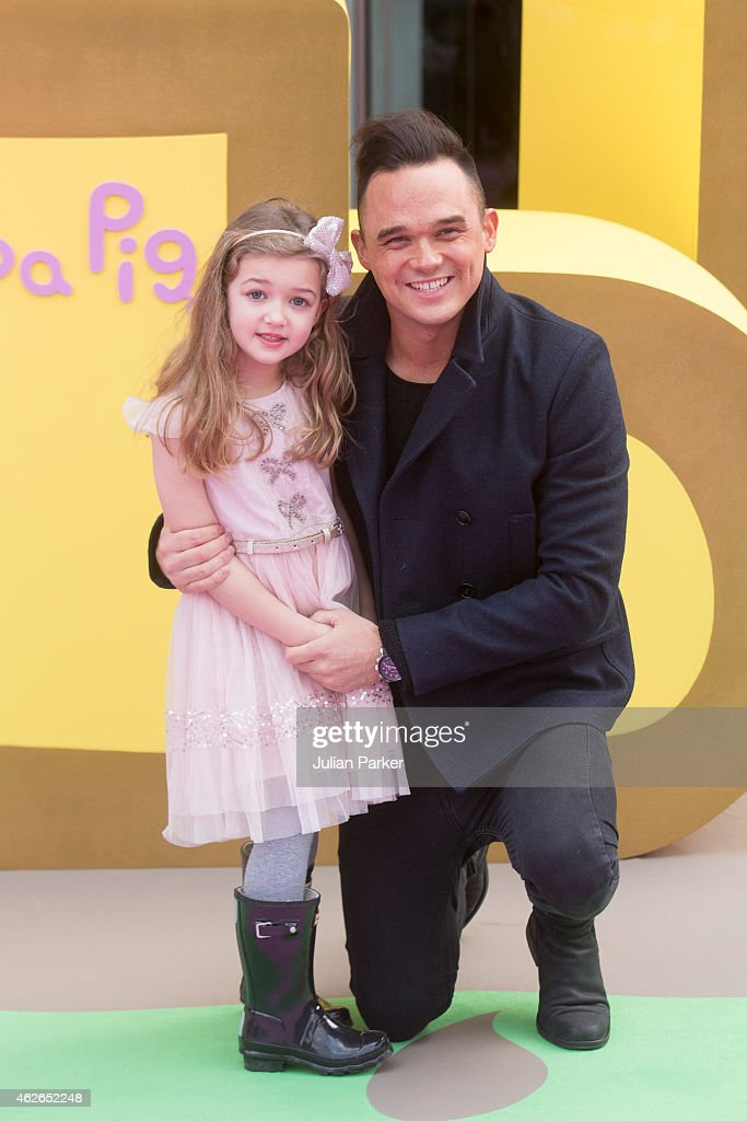 Gareth Gates attends the UK premiere of 'Peppa Pig: The Golden Boots' at Odeon Leicester Square on February 1, 2015 in London, England.